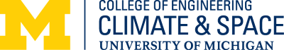 University of Michigan Climate and Space Science Engineering Logo